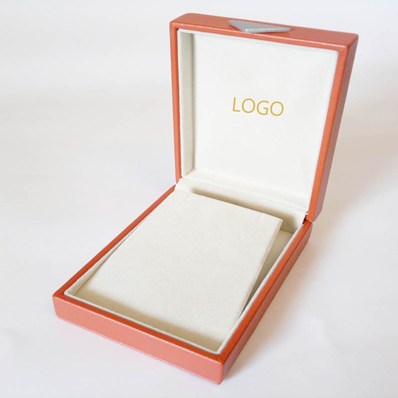 Custom Jewelry Gift Box for Necklaces with Velvet Inserts