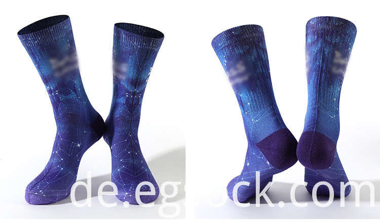 Printed Cushion Galaxy Socks