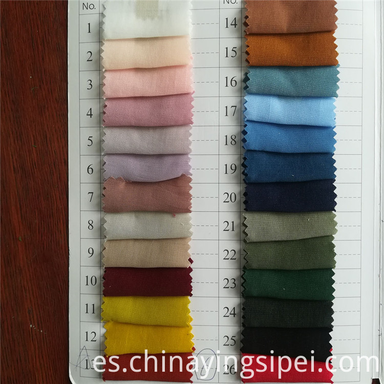 Stocklot Fashion style dyed polyester rayon fabrics
