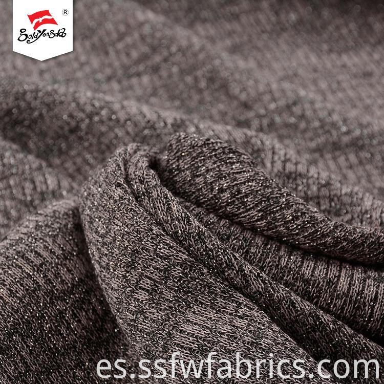 Comfortable Metallic Knitted Fabric
