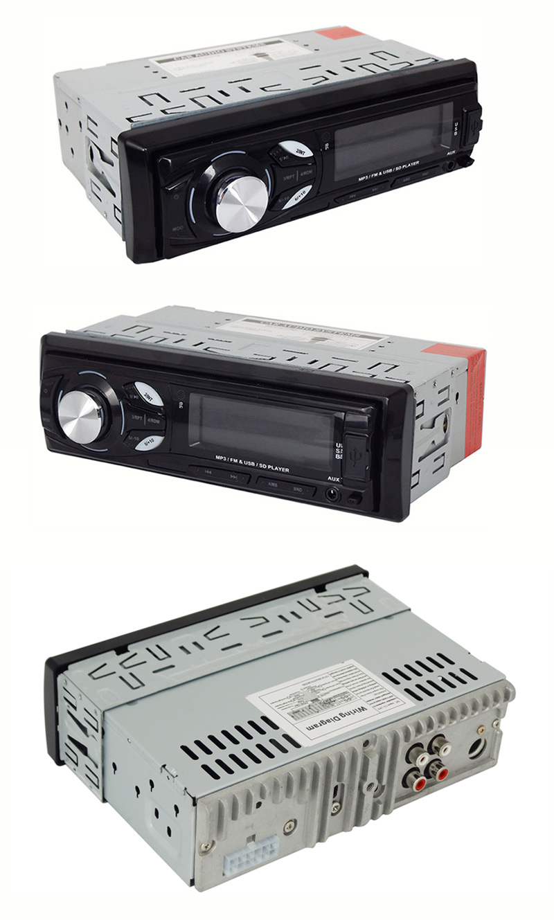 Fixed Panel Car MP3 Player with Small Heatsink