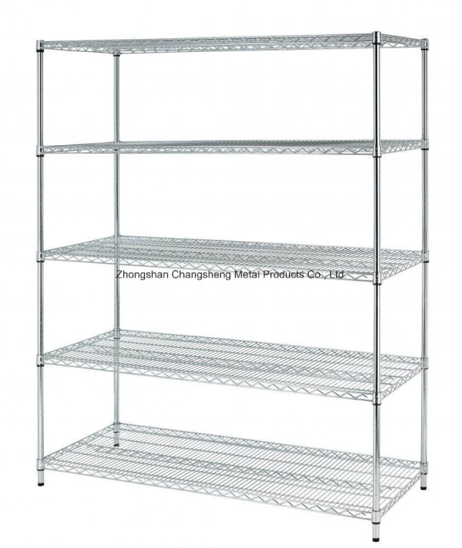 800lbs Adjustable Shelf Steel Wire Metal Shelving Rack with NSF and SGS Approval
