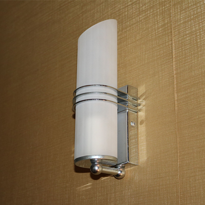 Opal White Glass Indoor Bedside Incandesent up Wall Lamp