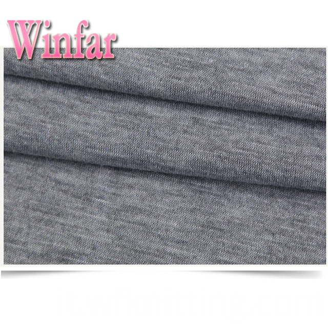 Polyester Melange Knit Fabric