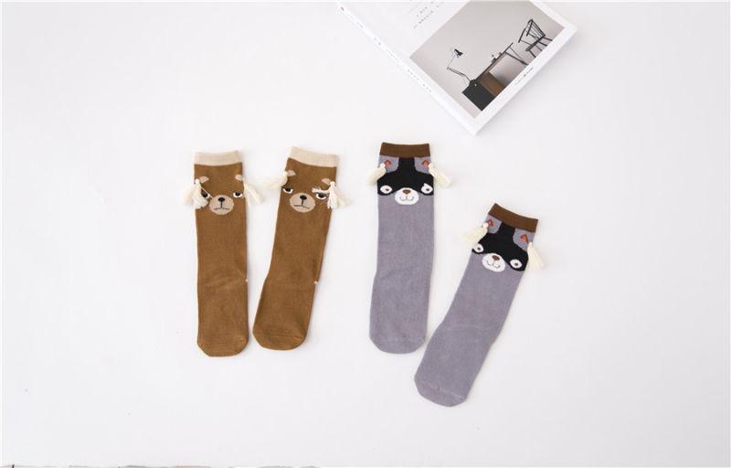 Fancy Kid Cotton Socks Coffee Bear Pattern Lovely Popular Children Socks