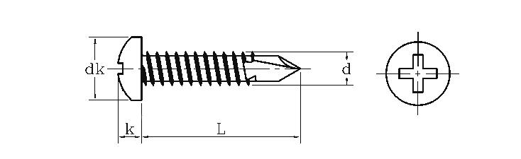 Cross Recessed Pan Head Self-drilling Screws