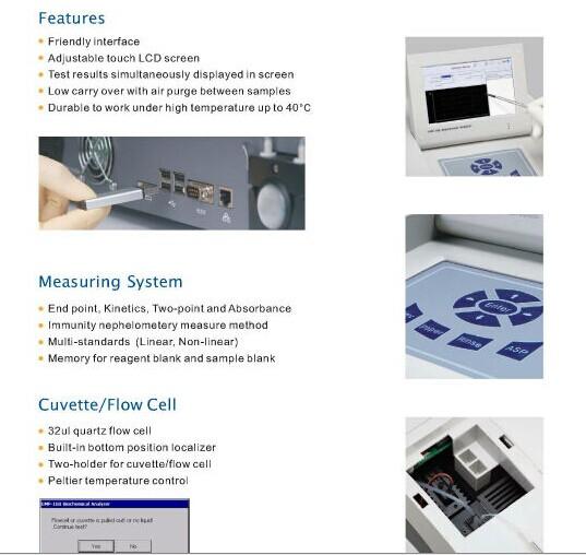 High Quality Clinical Semi Automatic Biochemistry Analyzer (FL-D500)