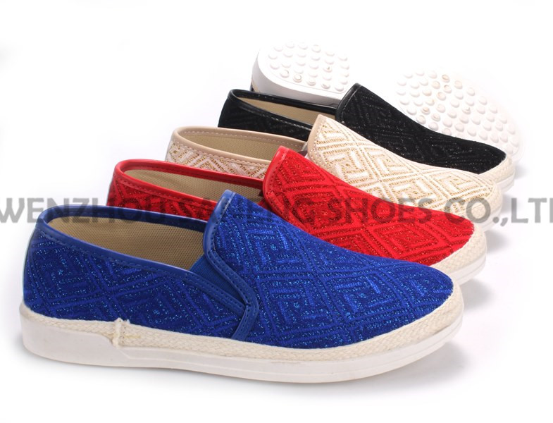 Women's Shoes Leisure PU Shoes with Rope Outsole Snc-55010