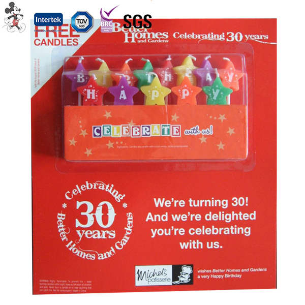 Factory Price Environmental Protection High Grade Manufacturer of Birthday Candle