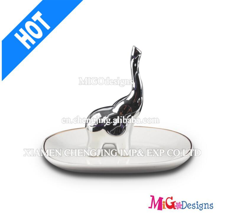 Ceramic Hot Seller Elephant Jewelry Ring Holder