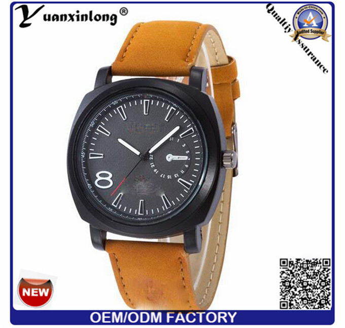 Yxl-375 2016 Fashion Watch Genuine Leather Band Japan Quartz Movement Curren Military Brand Watches Men Watch