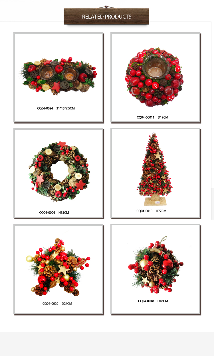 Dia. 10 Inch PE Pine & Cherry Christmas Ball for Party Decoration