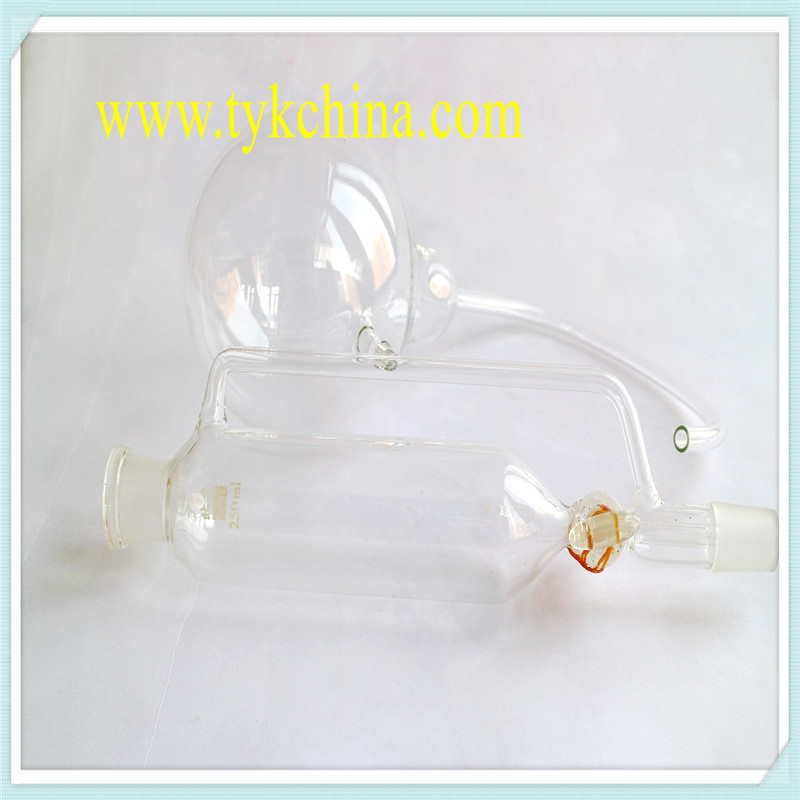Laboratory Glassware Measuring Cylinder Cock Stopper by Borosilicate Glass