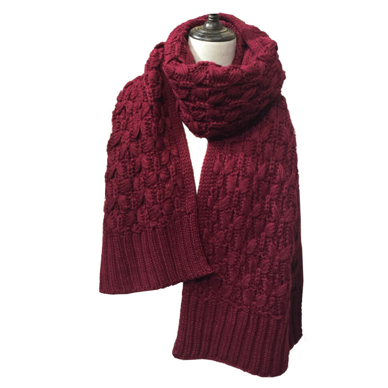 Womens Mens Heavy Cable Slouch Unisex Knitted Long Thick Winter Scarf (SK148)