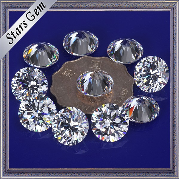 Big Size 12mm White Cubic Zirconia for Fashion Jewellery