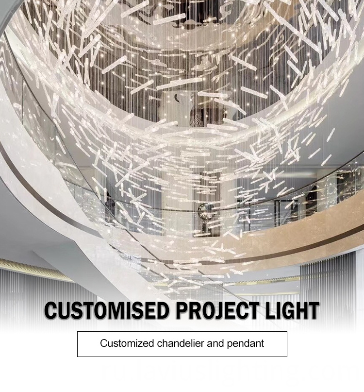 superstore mall crystal led chandelier