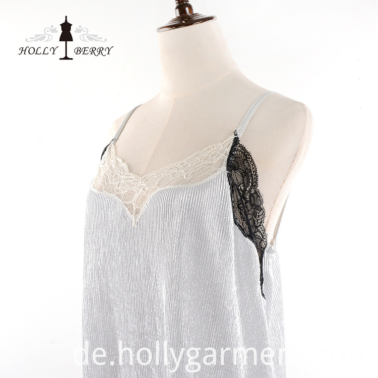 V-neck Soft Lace Dress