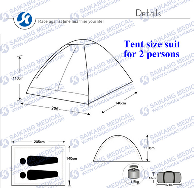 Water-Proof Tent with Frame Type Structure