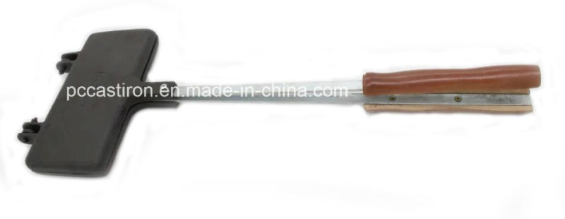 21X11cm Preseasoned Cast Iron Cake Mold Pan with Wooden Handle
