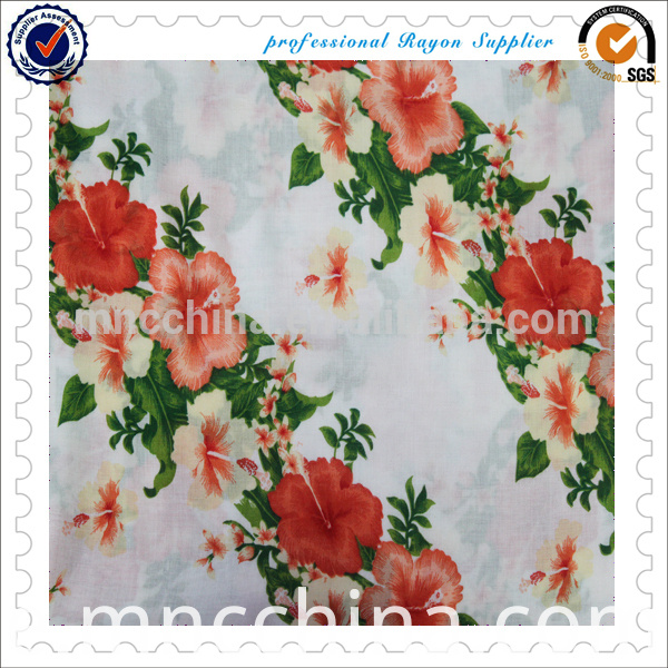Rayon Fabric Printed for Dress