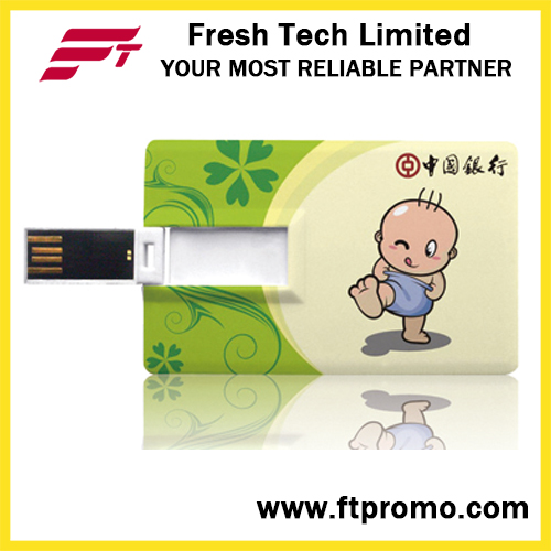 Credit Card Shaped USB Flash Drive with Logo