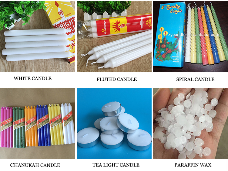 White Plain Candles