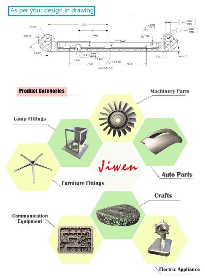 ISO 9001: 2008 Certificated Aluminium Alloy Die Casting Part