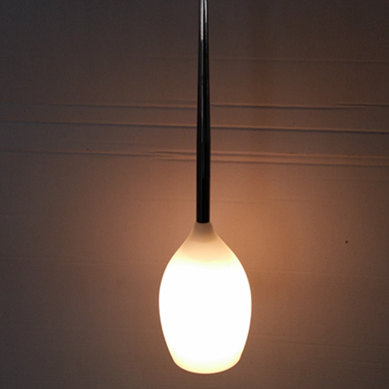 Modern Simple Opal White Glass Pendant Lamp for Livingroom