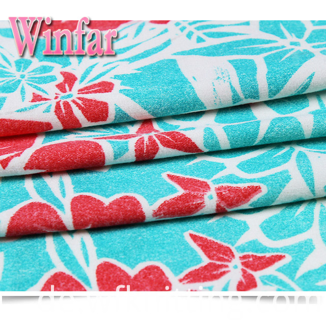 Flower Polyester Knit Jersey Fabric