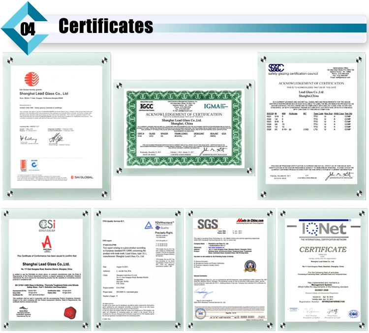 tempered glass certificate
