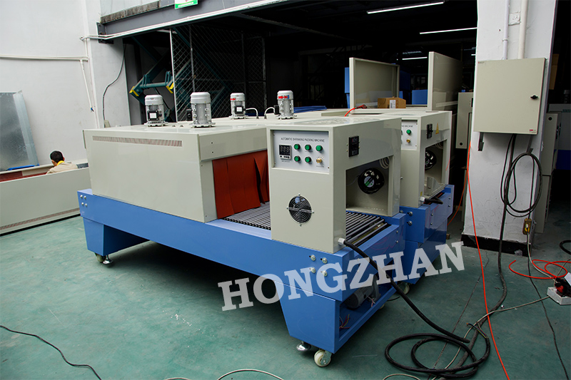 Semi Auto Sealing Machine with Shrink Oven Equipment for Electronic Component with Roller Film Sleeve Seal Packing Equipment