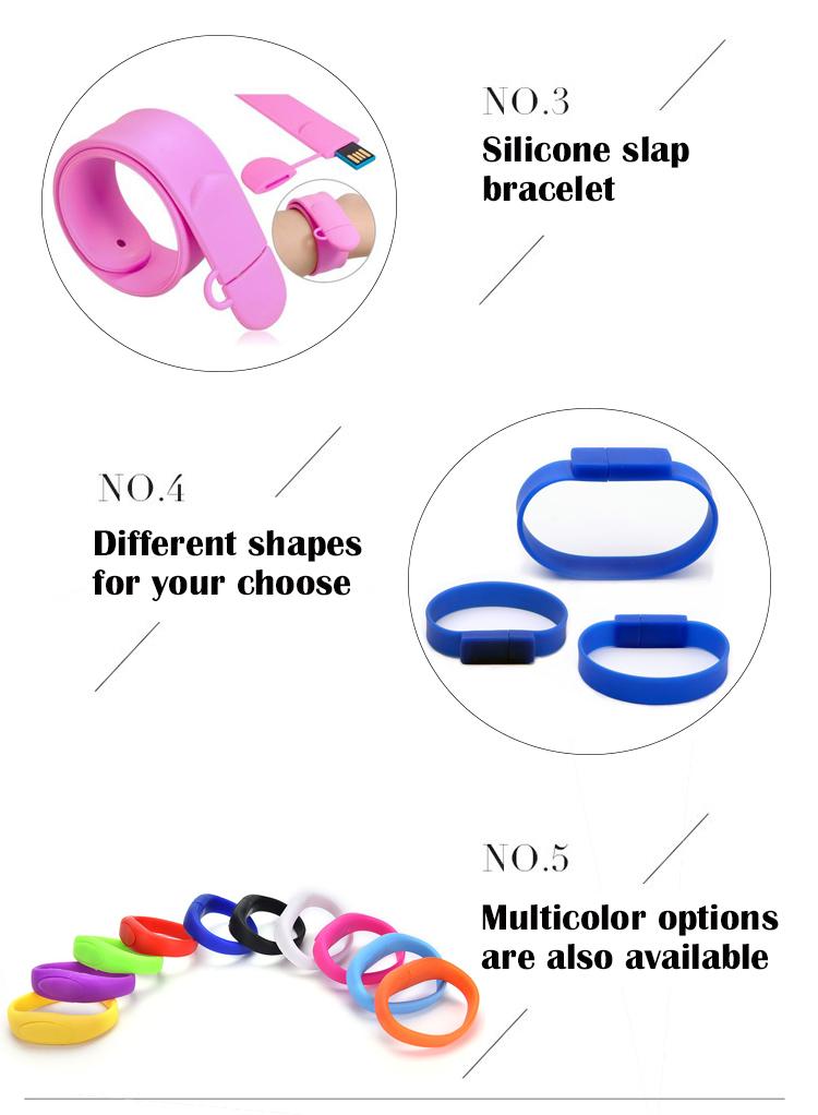 16GB Colorful Bracelet Wristband USB Stick Pendrive Silicone USB Flash Drive