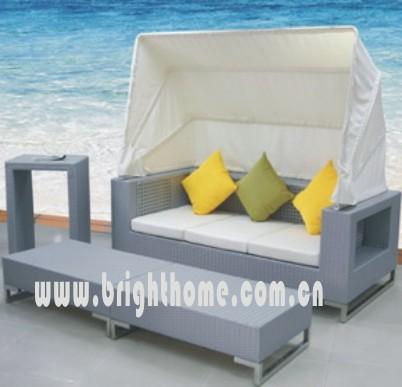 Rattan Wicker Sun Lounge Garden Outdoor Furniture Bl-805
