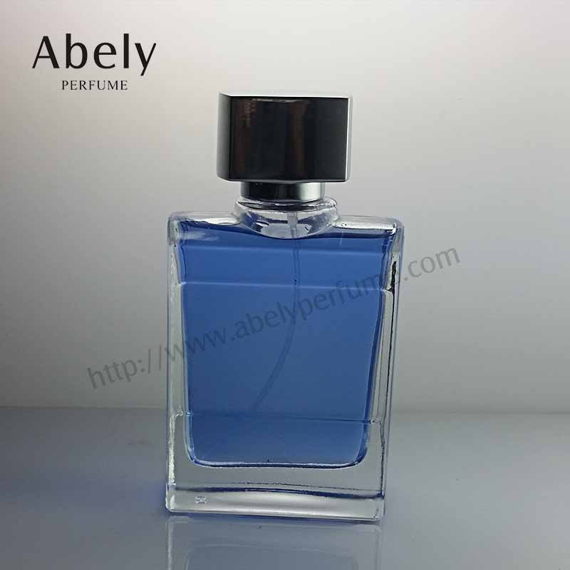 100ml Blue Sea Zamac Cap Glass Perfume Bottle