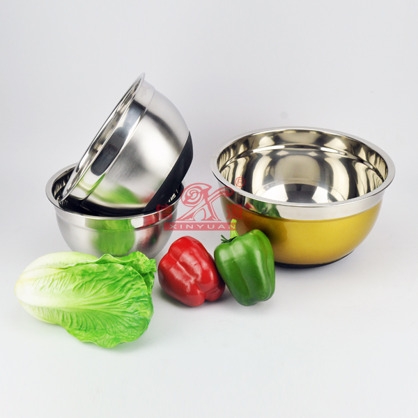 Stainless Steel Nonskid Salad Bowl (FT-00202)