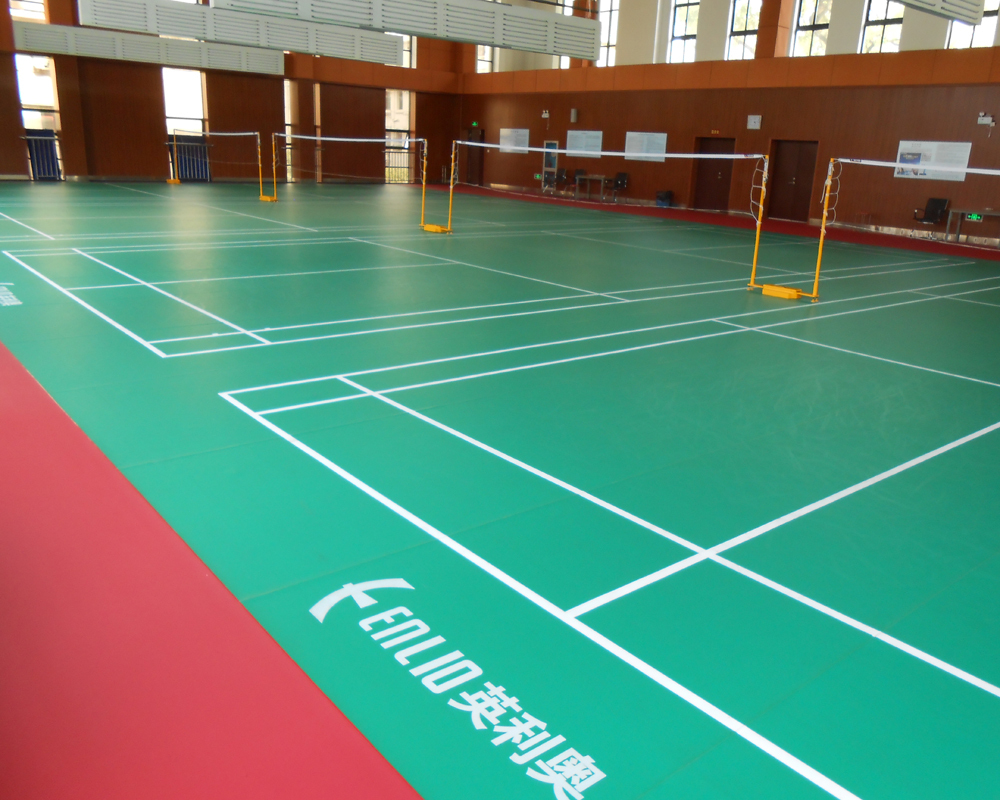 Enlio Vinyl badminton flooring mat with BWF