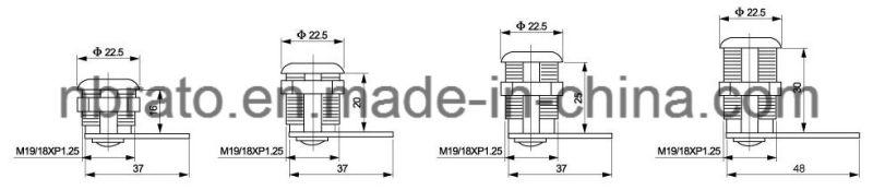 16/20/25/30mm Furniture Hook Cam Lock