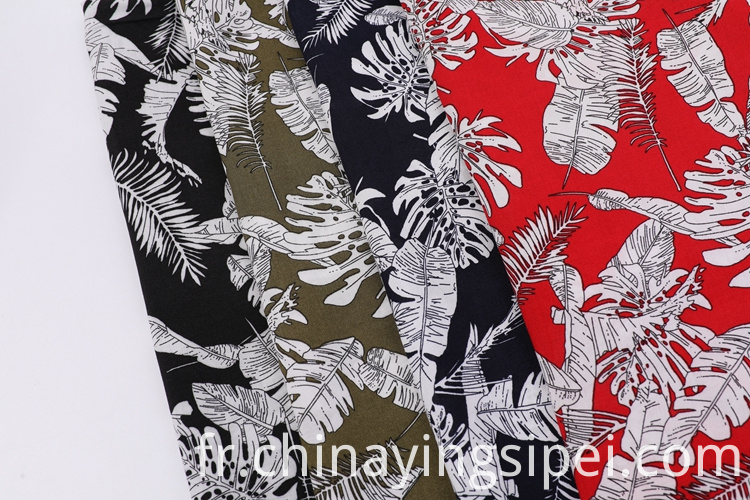 Fashion style plain poplin flower printed fabric