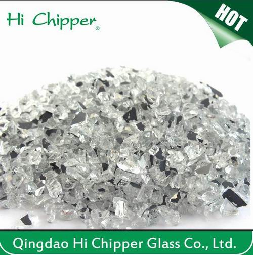Lanscaping Glass Sand Crushed Light Amber Glass Chips Decorative Glass