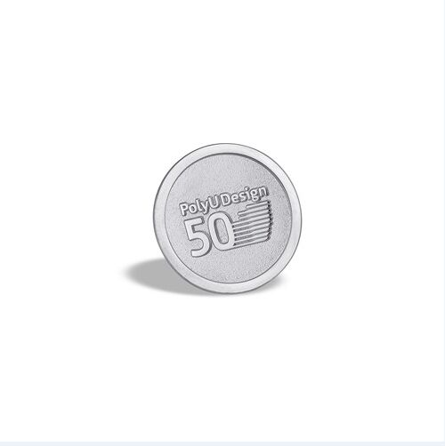 Gold Organizational Badge, Round Lapel Pin (GZHY-LP-019)