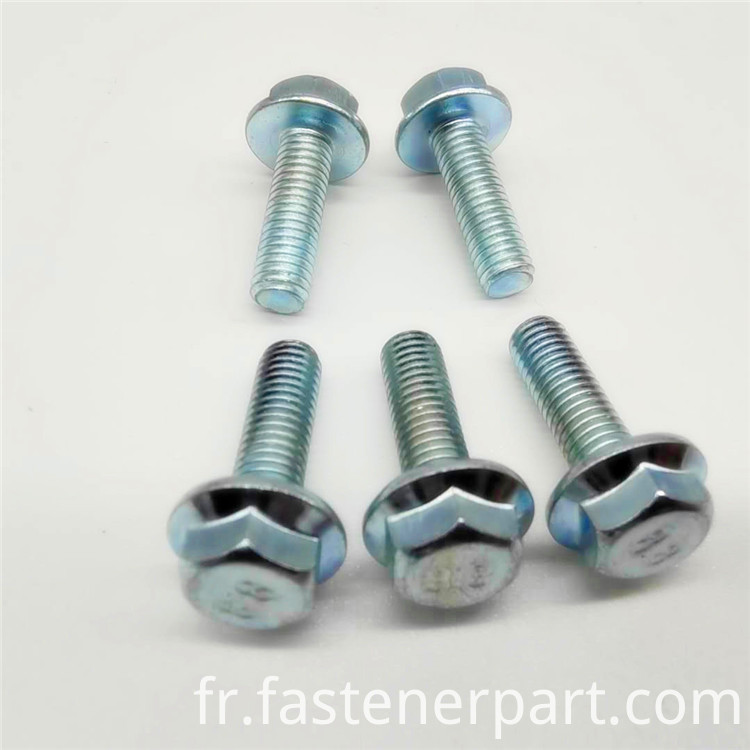 flanged serrated hex head flange cars bolts