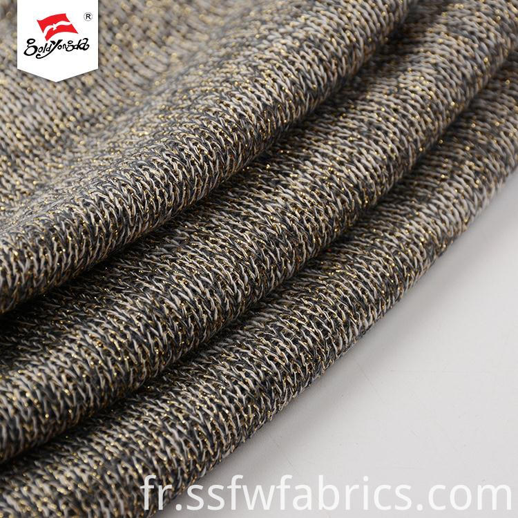 Fancy Design Rib Knit Fabric