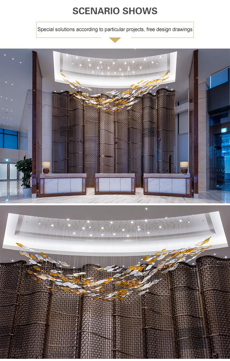led crystal pendant lamp hotel lobby chandelier