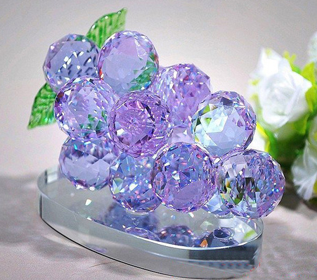 High Quality Wedding Decoration Gift Crystal Glass Grapes