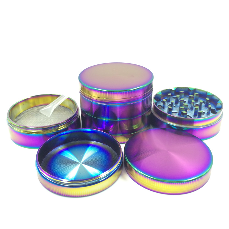 Creative Cool Colourful Striking Metal Herb Grinder with Crusher (ES-GD-012-M)