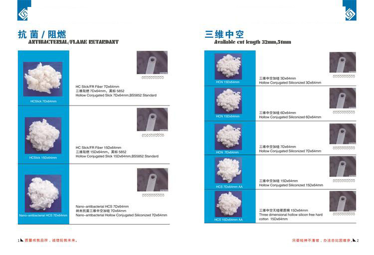 100% Polyester Staple Fiber (SD RW 1.4M*38M)