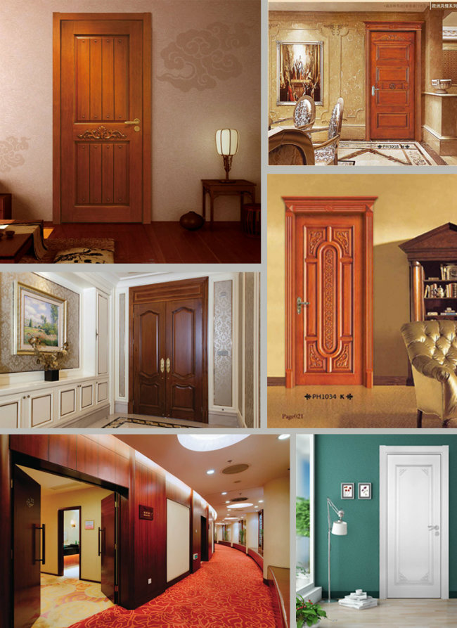 Customize Solid Wooden White Interior Panel Doors