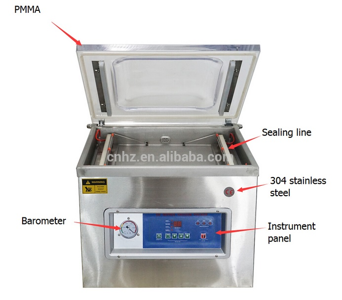 Single Chamber Heat Bag Vacuum Machine for Food Packing
