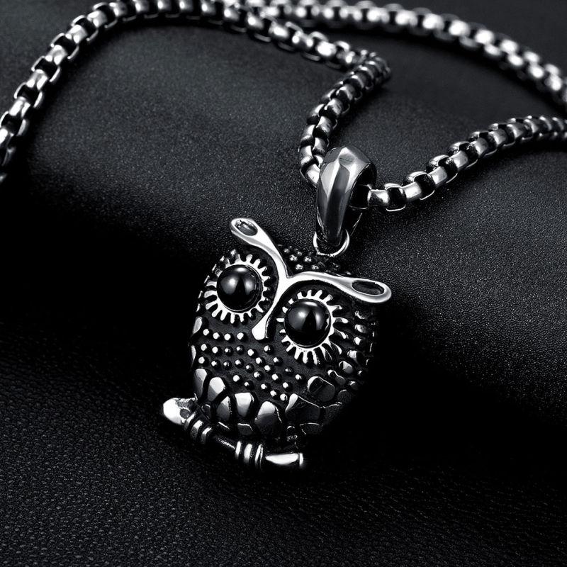 Hot Sale 316L Steel Necklace Owl Shape Pendant Necklace Fashion Jewelry