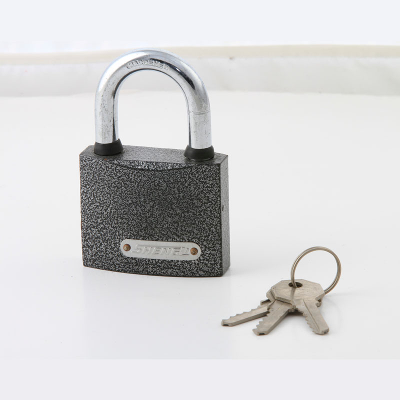 MID Heavy Duty Painted Plastic Padlock with Brass Cylinder